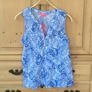 NWT Lilly Pulitzer Essie Top - Turtley Awesome - M
